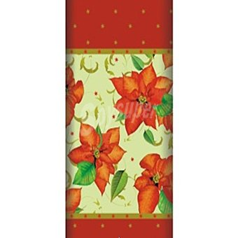 PAP STAR mantel Christmas Flower 120x180 1 unidad