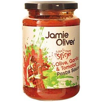 JAMIE OLIVER Salsa para pasta de aceitunas ajo y tomate Frasco 350 g