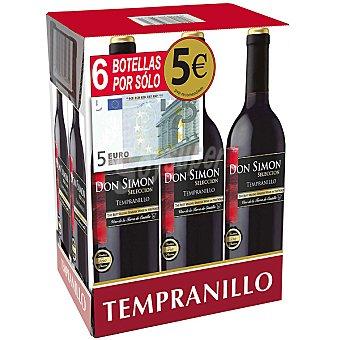 Don Simón Selección Tempranillo vino tinto de la Tierra de Castilla caja...