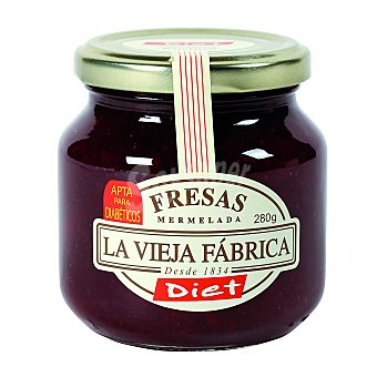 La Vieja Fábrica Mermelada de fresa sin azúcar  Frasco de 280 g