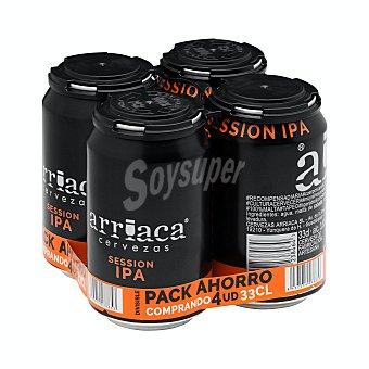 Arriaca Cerveza artesanal session ipa Pack 4 latas x 33 cl - 1,32 l
