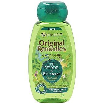 Original Remedies Garnier Champú vitalidad 5 plantas (té verde, limón, eucalipto, ortiga y verbena) Bote 250 ml