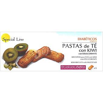 Special Line Pastas de té con kiwi con edulcorante 15 unidades envase 205 g 15 unidades
