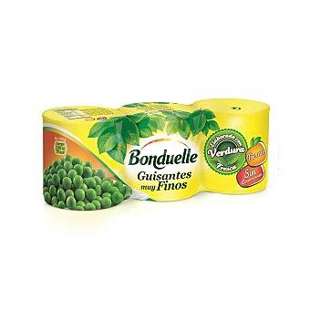 Bonduelle Guisantes al natural muy finos neto escurrido Pack 3 latas 120 g
