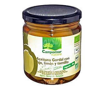 Campomar Nature Aceitunas gordal con ajo, limón y tomillo ecológicas 190 gramos