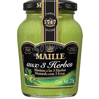 Maille Mostaza verde francesa a las 3 hierbas Tarro 215 g