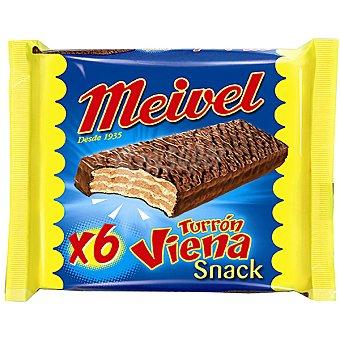 Meivel Chocolatinas de turrón de Viena Envase 6 unidades