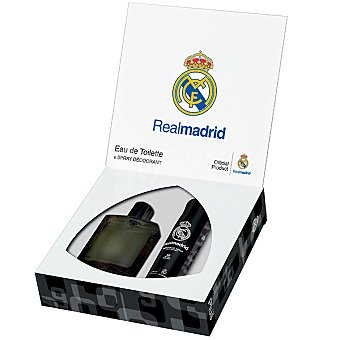 REAL MADRID eau de toilette Black masculina spray 100 ml + desodorante Spray 100 ml