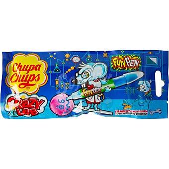 CHUPA CHUPS Crazy Lab Fun pen caramelo de fresa con lápiz para decorar  unidad 27 g