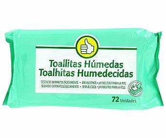 Productos Económicos Alcampo Toallitas húmedas para bebé 72 uds