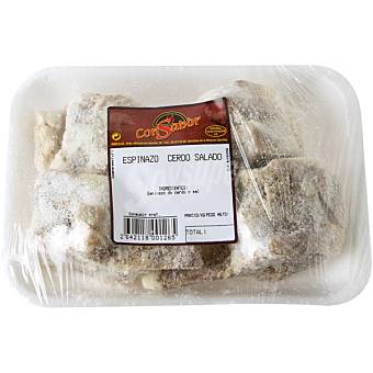 CONSABOR Espinazo salado de cerdo bandeja 500 g peso aproximado bandeja 500 g