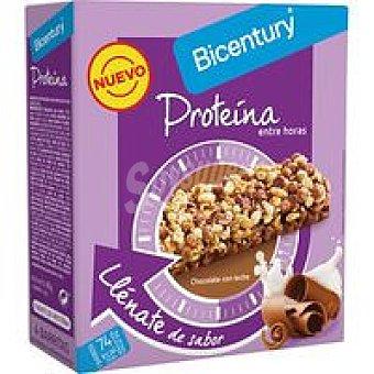 Bicentury Barrita de proteína con cereales y chocolate con leche Pack 4 u x 20 g