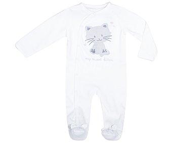 In Extenso Pijama pelele de bebe aterciopelado, color blanco, talla 68