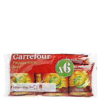 Carrefour Patatas fritas lisas 210 g