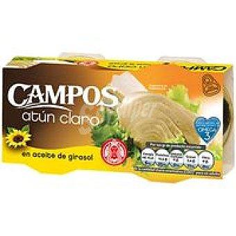Campos Atún claro en aceite de girasol Pack 2x160 g