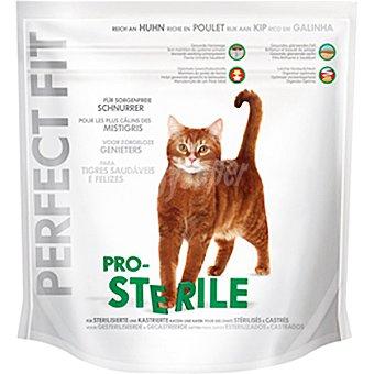 Perfect Fit Alimento para gatos esterilizados con pollo Pro-sterile envase 750 g