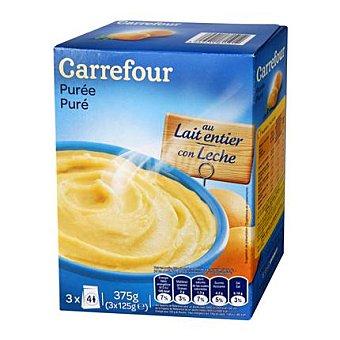 Carrefour Puré de patatas con leche 375 g