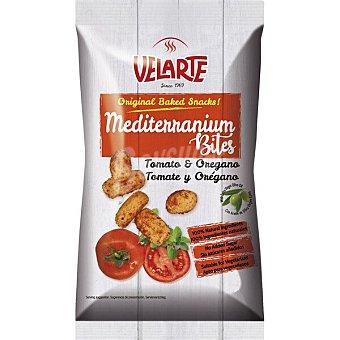 Velarte Mediterranium Bites snacks de pan sabor tomate y orégano con aove 80 g