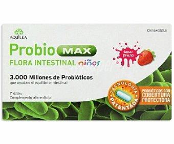 AQUILEA Probio Max Niños Complemento alimenticio niños sabor fresa, ayuda al equilibrio intestinal Complemento Aliment 7s