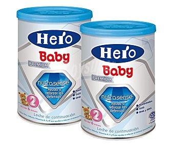 Hero Baby Leche de continuación premium que ayuda a reforzar las defensas a partir de 6 meses 2x800g