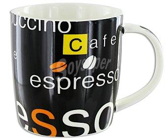 GSMD Mug o taza alta con asa modelo Expreso, con capacidad de 350 mililitros y fabricada en de porcelana de color marrón chocolate 1 Unidad