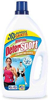 Detersolin Detergente líquido para ropa de deporte  Garrafa 43 lavados