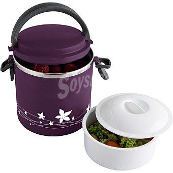 QUID Lunch Box Redondo térmico con interior de acero inoxidabe 1,8 l en color morado 1,8 l