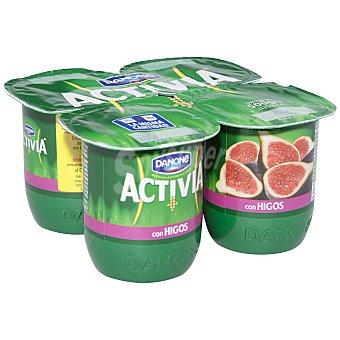 Activia Danone Yogur activia higos 4 unidades de 125 g