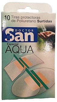 DOCTOR SAN Tiritas protectoras aqua Caja 10 u