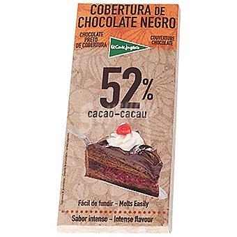 El Corte Inglés Cobertura de chocolate negro 52% cacao fácil de fundir Tableta 200 g