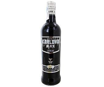 Karlova black Bebida espirituosa de vodka negro Botella de 70 cl