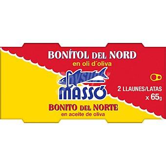 Massó Bonito del norte en aceite de oliva pack 2 latas 50 g neto escurrido Pack 2 latas 50 g