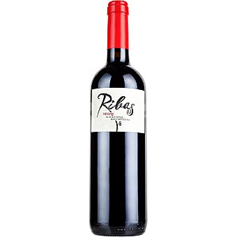 HEREUS DE RIBAS vino tinto negre de Mallorca  botella 75 cl