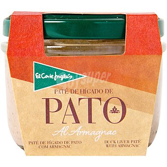 El Corte Inglés Paté de hígado de pato al Armagnac tarro 100 g Tarro 100 g
