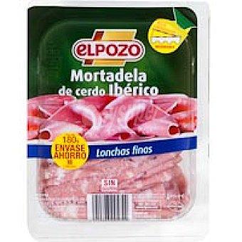 ElPozo Mortadela de cerdo Ibérico lonchas finas Bandeja 180 g