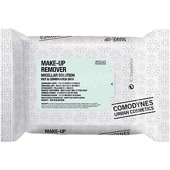 Comodynes Urban Cosmetics toallitas desmaquillantes para pieles mixtas y grasas Paquete 40 unidades