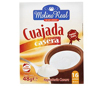 Molino Real Cuajada casera en polvo 4 uds. x 12 g