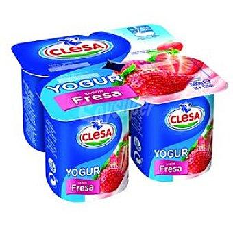 Clesa Yogur de fresa Clesa Pack de 4 unidades de 125 g