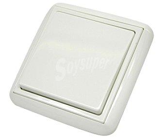 EUROBRIC 2000 Interruptor-conmutador para empotrar de color blanco, que soporta 10 Amperios a 250V, de la serie lotus 1 unidad