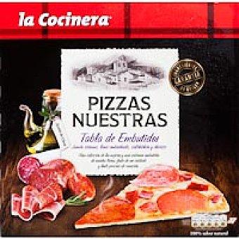 La Cocinera Pizzas Nuestras de tabla de embutidos Caja 300 g