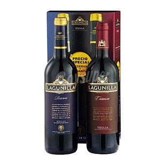 """Lagunilla Estuche de vino D.O. Ca. """"Rioja"""" tinto reserva + tinto crianza pack 2x75 cl"""