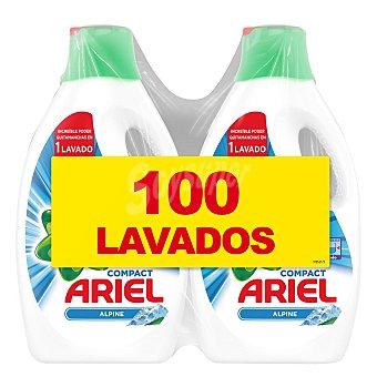 Alpine Detergente líquido Ariel Pack de 2 unidades de 50 lavados
