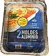 Molde desechable aluminio tarta rectangular (bajo) Paquete 2 u Aliberico