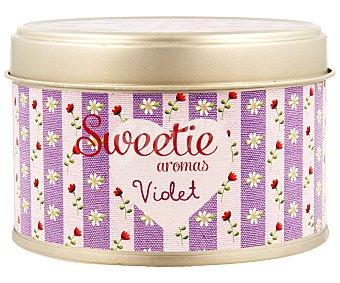 AMBIENT AIR Vela en lata perfumada con olor a Violeta, Sweetie aromas 1 unidad