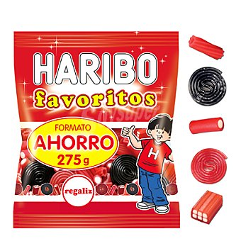 Haribo Gominolas favoritos regaliz 275 g