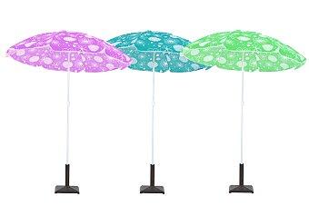 Productos Económicos Alcampo Parasol de 8 varillas inclinable y de aluminio, de varios colores 1 unidad