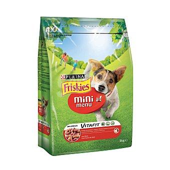 Purina Friskies Comida para perros Mini Menu con Buey 3 Kg