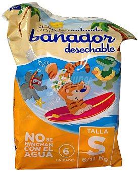 DELIPLUS Pañal 6 a 11 kg bañador desechable PAQUETE 6 u