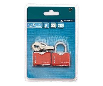 Arregui 2 candados de latón de 30mm., arco corto y nivel de seguridad básico arregui
