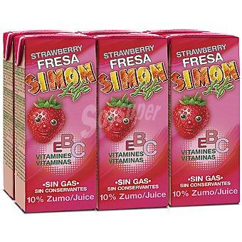 SIMON LIFE nectar de fresa sin gas  pack 6 envases 200 ml